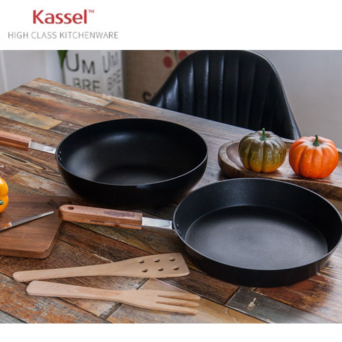 Kassel 카셀 내츄럴 인덕션 후라이팬  2종세트 28cm후라이팬 + 28cm궁중